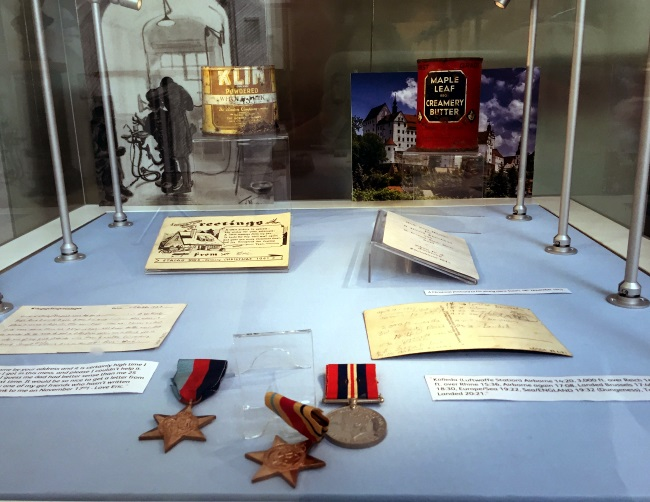 Items on display at BDA Museum from life story of Eric Cooper Colditz dentist